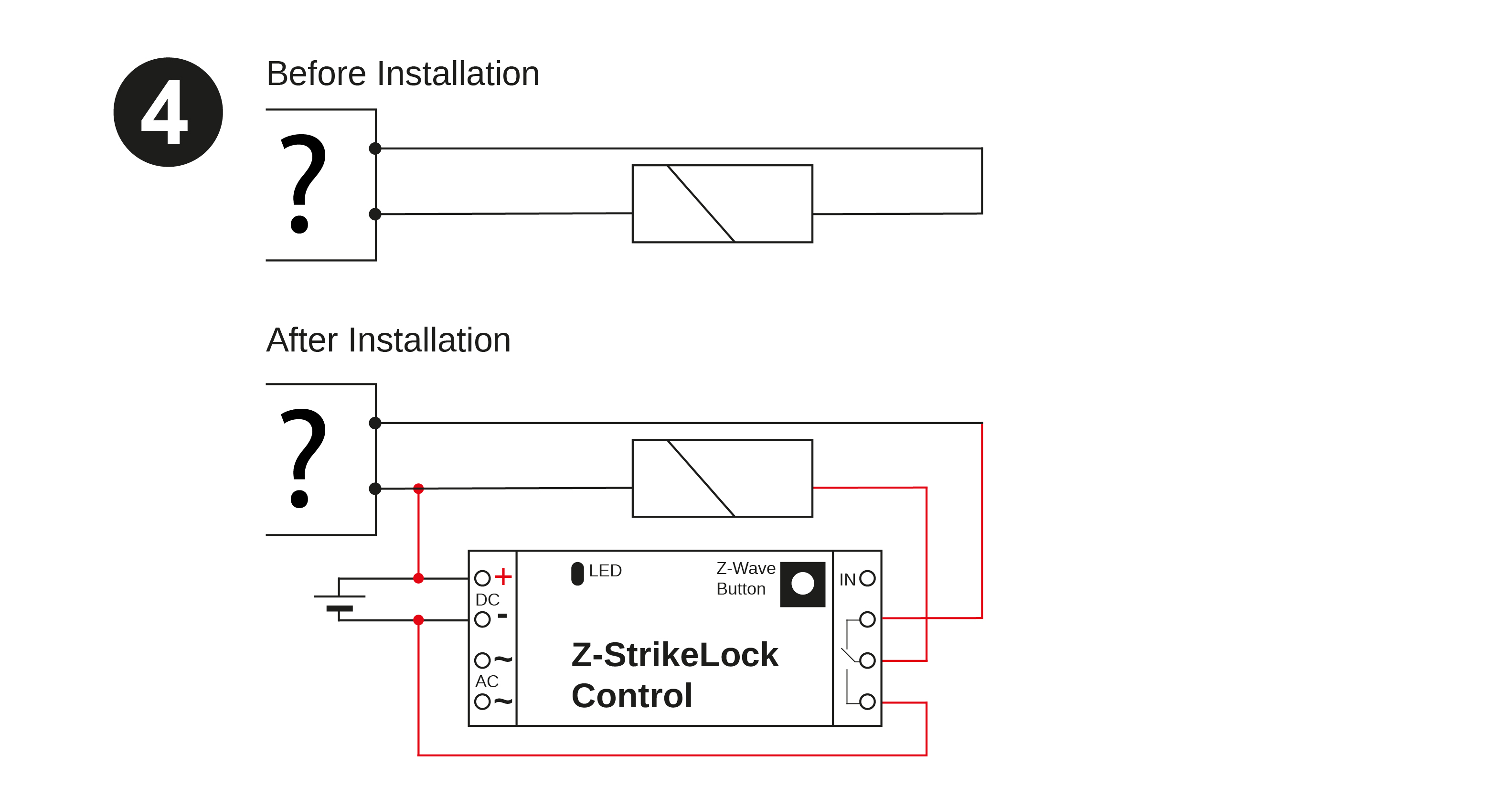 Electric Strike Lock Control Door Opener Wireless Intercom Circuit Diagram The Image Below Shows Required Wiring System Will With Both Battery Operation And Ac Power Supply Solution Only